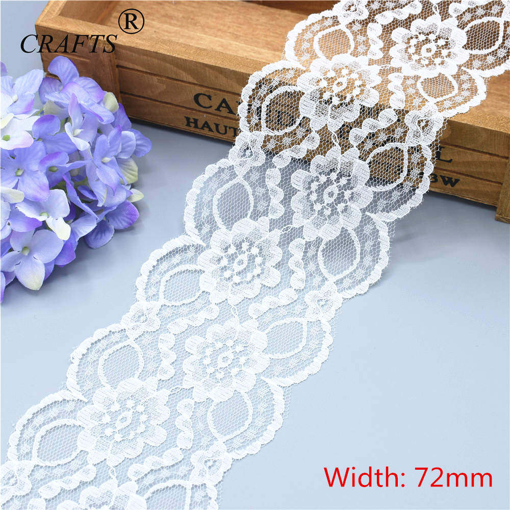 5-10 Yards Brand New  Beautiful White Lace, DIY Crafts/wedding/clothing/lace Ribbon Gift Wrapping (5 Or 10yards/roll)