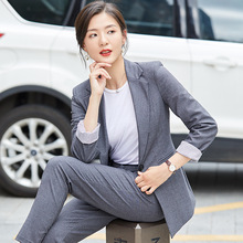 High quality temperament womens suit two-piece New elegant single buckle autumn female Elegant ladys office trouser