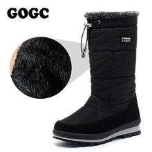 GOGC женские сапоги; сапоги до колена женские; зимние сапоги высокие женские; сапоги зимние женские; женские дутики; женская зимняя теплая обувь с мехом; сапоги до колена; женские меховые сапоги; женская обувь G9637