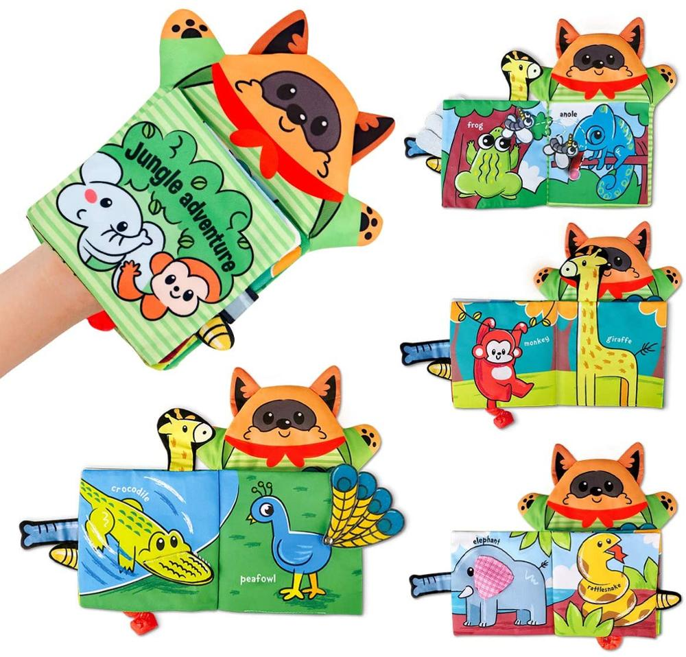 Baby Soft Cloth Book for Newborns 0 12 Months 3D Quiet Books Montessori Hand Puppet Educational Toy for 1 Year Old Boy Kids Gift 5