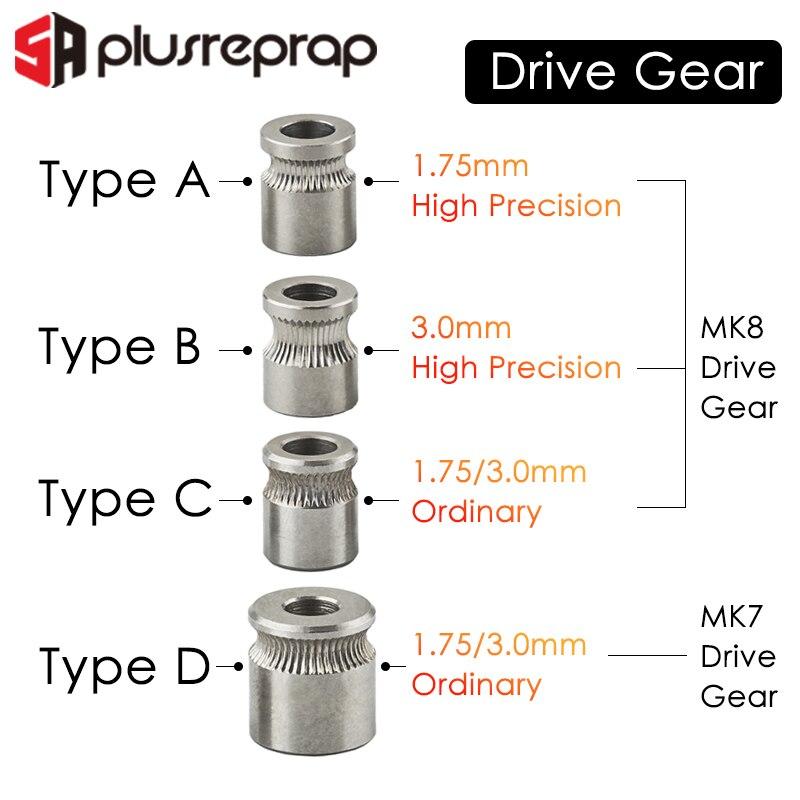 1 шт. MK8 MK7 привод для 1,75 мм 3 мм нити 3D принтера Reprap шкив экструдера 5 мм вал|Детали и аксессуары для 3D-принтеров|   | АлиЭкспресс