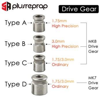 цена на 1PC MK8 MK7 Drive Gear for 1.75mm 3mm Filament 3D Printer Reprap Extruder Pulley 5mm Shaft