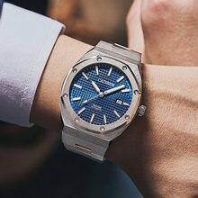 Бренд cadisen Роскошные мужские часы механические Автоматические