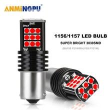 ANMINGPU 2x сигнальные лампы 1156 светодиодный P21W BA15S R5W PY21W BAU15S Canbus 3030SMD 1157 светодиодный BAY15D P21 5W/оборудование для нанесения покрытия запасной свети...