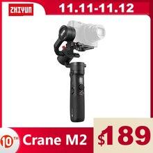 ZHIYUN Crane M2 Officiële  Gimbals Voor Smartphones Telefoon Mirrorless Action Compact Camera S Nieuwe Collectie 500G Handheld Stabilizer