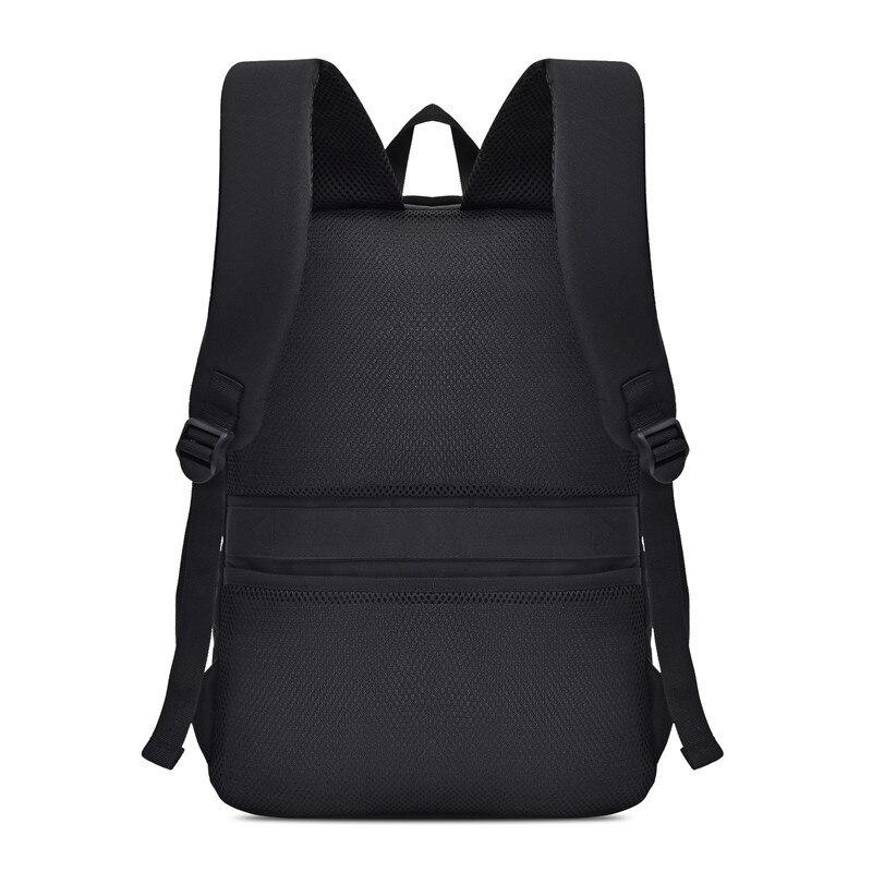 Image 3 - Mens Laptop Backpack Oxford Luminous Waterproof Backpack USB  Interface Business Travel Backpack Teenager School Bags  RucksackBackpacks