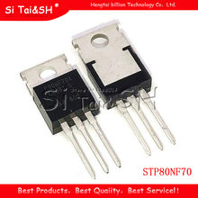 5 pces stp80nf70 to220 p80nf70 to-220 80nf70 novo e original ic(China)