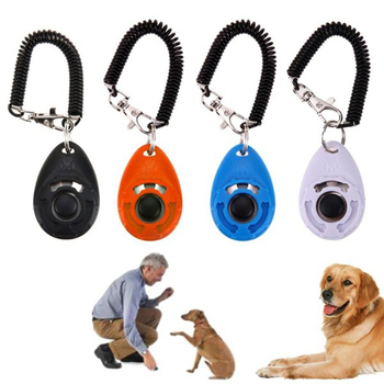 Dog Trainer Adjustable Sound Keychain Dog Clicker Anti Barking Device Dog Training Clicker Dog Agility Training Pet Supplies image