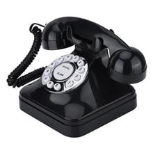 Telefone fixo da função da operação da única linha dos telefones retro do vintage multi