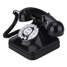VINTAGE โทรศัพท์ Retro Retro One line การทำงานหลายฟังก์ชั่นโทรศัพท์พื้นฐาน