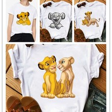 2020 New Summer Women T-shirt Cartoon Lion King Printed Tshirt Fashion Casual Harajuku Tshirt Female