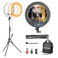 Neewer 14 inch Outer Dimmable LED Ring Light Kit Includes:30W Bi Color 3200K 5600K Small Ring Light Light Stand Soft Tube Holder