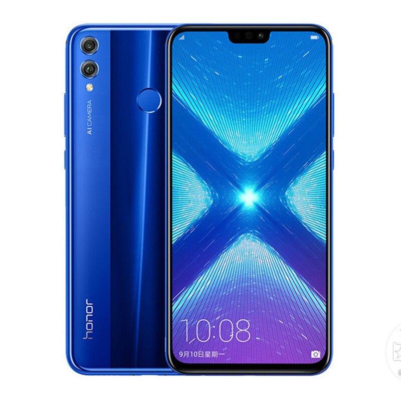 Смартфон Honor 8x4G, 6,5 дюйма, Android 10,0, Восьмиядерный процессор Kirin 710, 2,2 ГГц, 4 Гб ОЗУ, 128 Гб ПЗУ, 20 МП, сканер отпечатка пальца, 3750 мАч