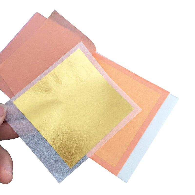 24K Edible Gold Leaf Sliver Foil 25 Sheets/booklet For Facial Mask Christmas Food Cake Decoration Arts Crafts Gilding Paper