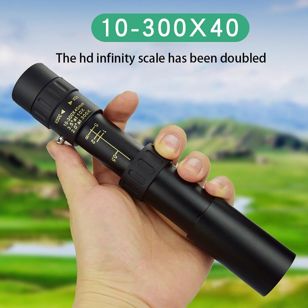 Монокуляр 4k 10-300x40 мм, супертелескопический Монокуляр с зумом, портативный телескоп для кемпинга, охоты, прицел с ночным видением для кемпинг...