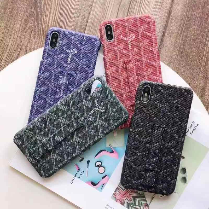 Kuning Fashion Bisnis Gelang All-In Ponsel Case untuk iPhone X Max XS XR 6 6S 7 8 plus Cover