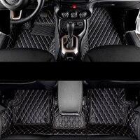 lsrtw2017 fiber leather car interior floor mats for jeep Renegade 2014 2015 2016 2017 2018 2019 2020 accessories parts carpet