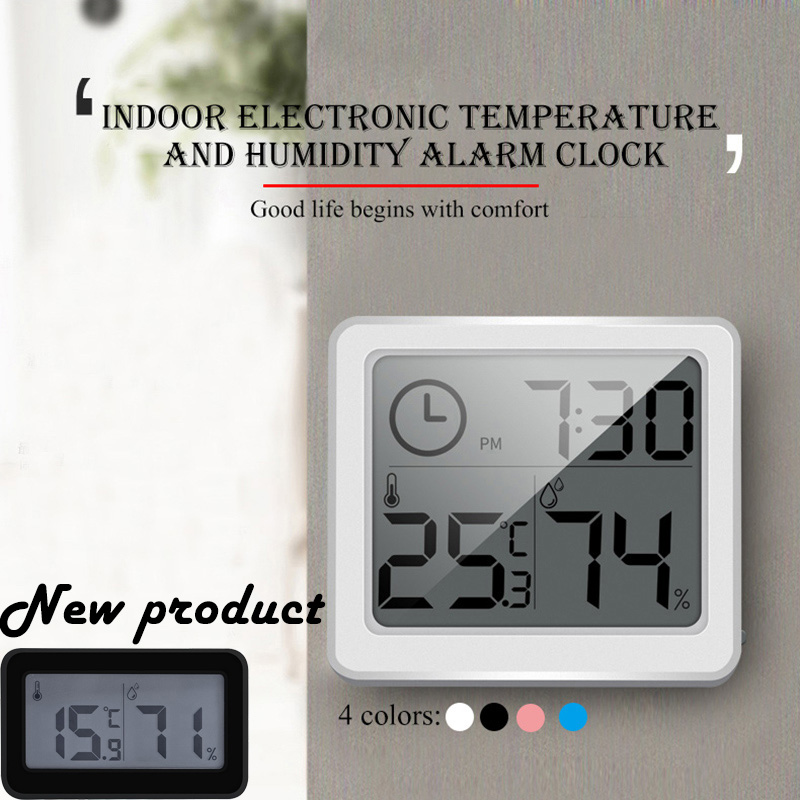 Ultra-thin Thermometer Hygrometer Automatic Electronic Digital Weather Station Monitor Refrigerator Thermometer Electronic News