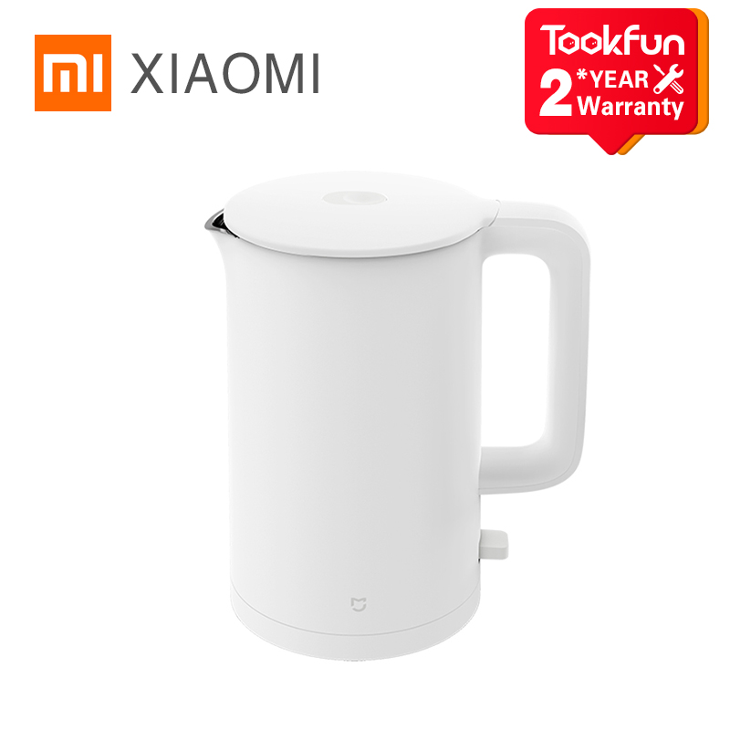 XIAOMI MIJIA Electric Kettle 1A Fast Hot boiling Stainless Water Kettle Teapot Intelligent Temperature Control Anti Overheat