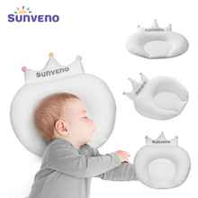 Sunveno Baby Pillow Infant Newborn Sleep Support Concave Cartoon Pillow Cushion Prevent Flat Head