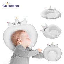 Sunveno bebek yastık bebek yenidoğan uyku desteği içbükey karikatür yastık minder düz kafa önlemek