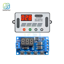 DDC-432 DC 12V 24V Dual MOS LED Digital Delay Controller Time Delay Relay Trigger Cycle Timer Delay Switch Timing Control Module 6 30v relay module switch trigger time delay circuit timer cycle adjustable