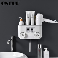 ONEUP Portable Toothbrush Holder Case Automatic Toothpaste Dispenser Squeezer Toothbrush Storage Box Home Bathroom Accessories