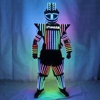 Full color LED robot suit Colorful luminous Glowing Wears Dancing Costumes Model Show Dress Clothe DJ Bar Performance