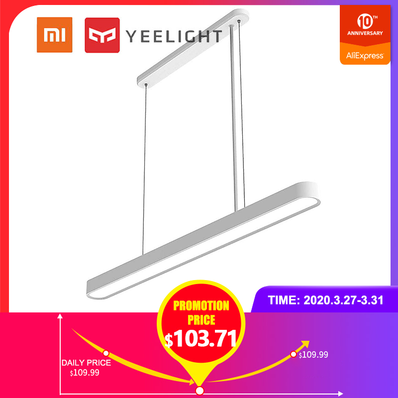 Yeelight 33W 2700K-6000K Color Temperature Dimmable RGB Smart LED Chandelier APP Control Dining Room Smart Foyer Pendant Light