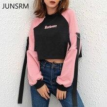 Sweatshirt Blackpink Womens Clothing Long Sleeve Short  Ribbon Tops Streetwear 2019 Kpop Pullover womens sports sweater