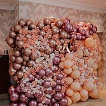 Розовое золото, хром, брикет, 5 дюймов, 25 шт., маленькие, новые, глянцевые, надувные воздушные шары, свадебные игрушки на день рождения