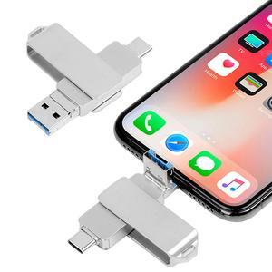 Image 4 - Cho Iphone Lightning Ios OTG Đèn Thẻ Nhớ Loại C Pendrive USB Loại C Flash 16GB 32GB 64GB Bút Usb3.0