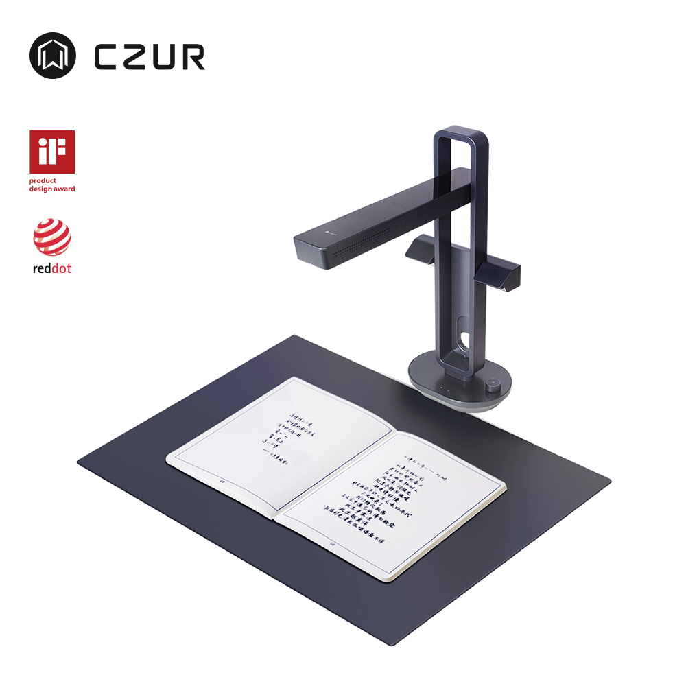 CZUR Book-Scanner Desk-Lamp Smart-Table Aura-X-Pro A3 with Built-In-Battery for A4-Size title=