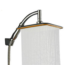ABS Chrome 9 Inch Square Thin Rotatable Top Rain Shower Head Wall Mounted Extension Arm Water Saving Pressurized Shower for Bath
