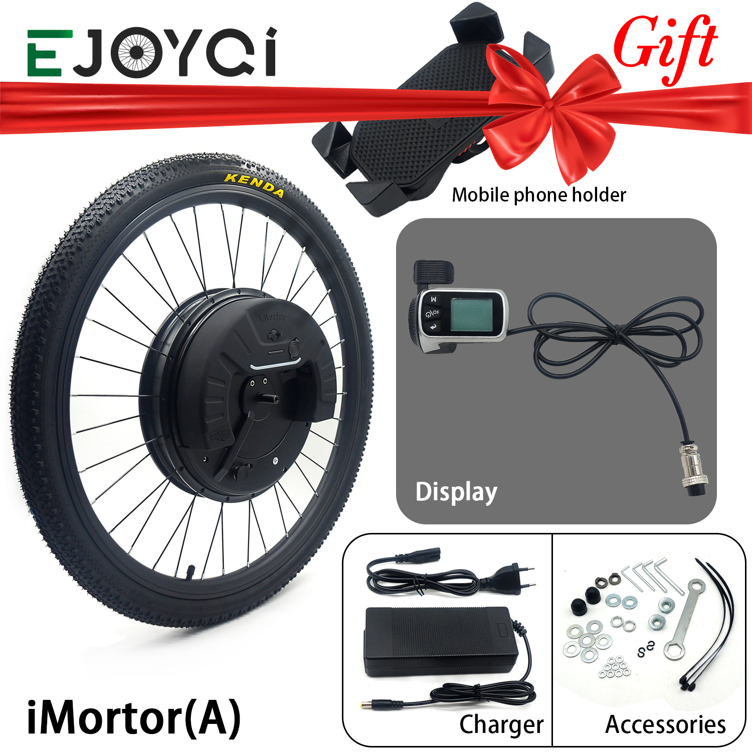 EJOYQI iMortor All in One Electric Bicycle <font><b>Motor</b></font> Wheel 24