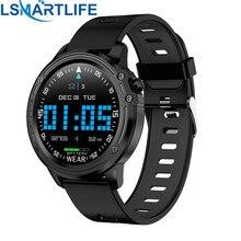 Reloj inteligente L8 IP68 para Hombre, deportivo, resistente al agua, con presión arterial mediante PPG ECG y control del ritmo cardíaco