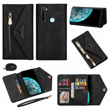 Retro zipper lady wallet leather case For redmi 8A DUAL note 8 note 9S pro note10 7A note7 K30 xiaomi 10 CC9 pro cover case +pen