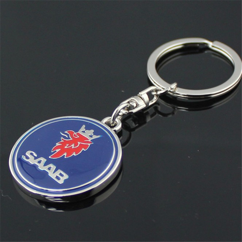 3D металлический логотип для автомобиля брелок кольцо для ключей автомобиля держатель для SAAB Aero X 9-3 9-5 9-7X SCANIA брелок автомобильный Стайлинг