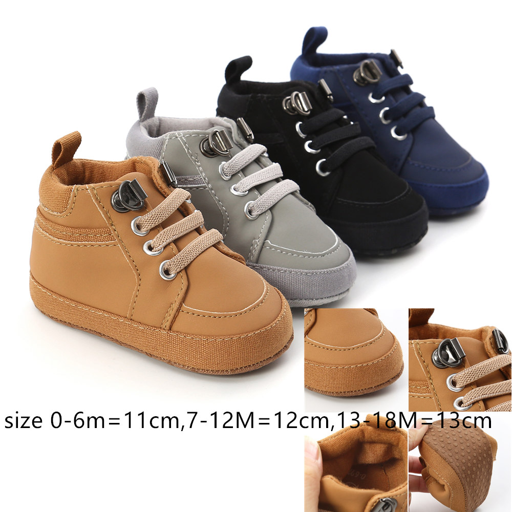 High Cut Leather Baby  Boy Booties Infant  Sneaker Shoes Toddler Winter First Walker Newborn Boy Footwears Whoesale