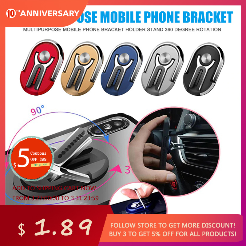 Mini Auto Car Doll Model Phone Holder Mount Stand 360° Rotatable with Magnetic