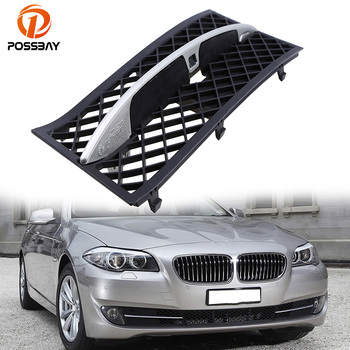 POSSBAY Black ABS Front Left Side Lower Racing Grilles Fit For BMW 5 Series F10/F18 Sedan/Wagon Pre-facelift 2011/2012/2013 image