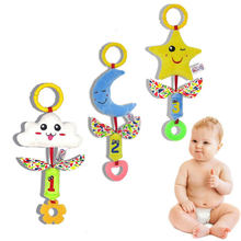 0-12 months Hanging Toys Cloud Star Moon Wind Chimes Rattles Baby Toys Mobile On The Bed Gift Educational For Kids Toys Rattles(China)