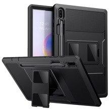 Mokos Fall Für Samsung Galaxy Tab S6 10,5 2019, heavy Duty Stoßfest Volle Körper Robuste Hybrid Abdeckung mit Integrierten Bildschirm Protector