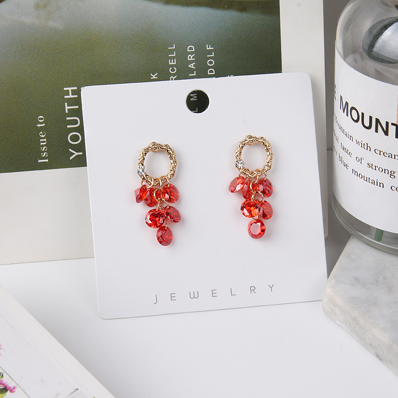 Hcb61f47079184acb8da70757928b2191S - 2019 New Hot Sale 20 Style Red Fashion Korean Elegant Geometric Dangle Earrings for Women Cute Pendant Mujer Jewelry