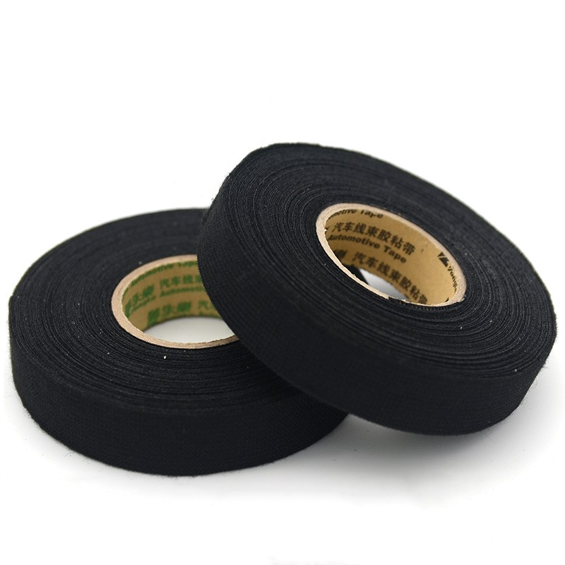 1pcs Insulation Tape 19mmx15m Tesa Coroplast Adhesive Cloth Tape For Cable Harness Wiring Loom High Temperature Resistant Tape