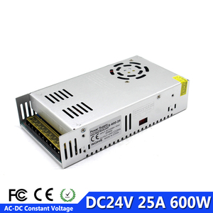 Image 1 - DC Power Supply 24V 25A 600w Led Driver Transformer 110V 220V AC To DC24V Power Adapter for Strip Lamp CNC CCTV 3D Printer AV TV