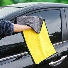 цены на 30cm Car Cleaning Scouring Pad Washing Towel Thick Plush Microfiber Dish Towels Fiber Cloth for Kitchen Car Care Wax Polishing  в интернет-магазинах