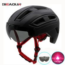 Kaski rowerowe matowy czarny mężczyźni kobiety kask rowerowy tylne światło MTB do roweru szosowego i górskiego integralnie formowane kaski rowerowe tanie tanio GIEADUN (Dorośli) mężczyzn FF158 8-15 Ultralight kask