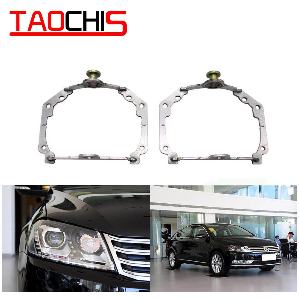 TAOCHIS Adapter Frame Head Light For VW Volkswagen Magotan Adaptive Frontlighting System AFS Hella 3R G5 Projector Lens