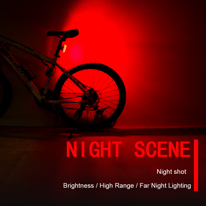 Image 5 - Bike Bicycle Lamp Rechargeable LED USB COB Mountain Bike Tail Light Taillight MTB Safety Warning Bicycle Rear Light 2018-in Bicycle Light from Sports & Entertainment